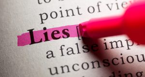 Fake Dictionary, definition of the word lies.